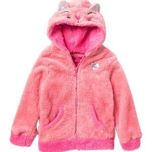 Betsey Johnson Faux Fur Hoodie Jacket Toddler Girl